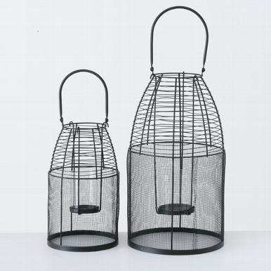 <h4>Windlight Tadeo, Dome, H 44 cm, L 18 cm, Iron Quantity in set: 1; iron black</h4>