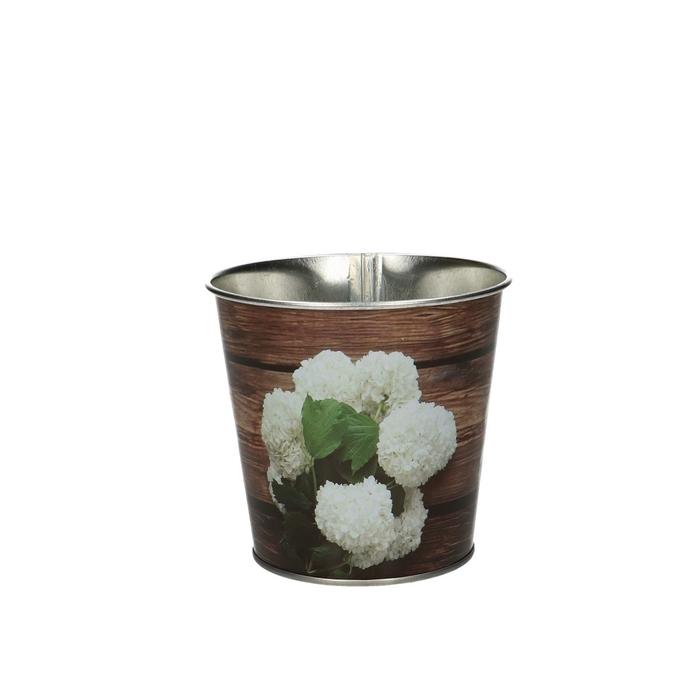 <h4>Zink Pot hortensia/hout d10*10cm</h4>