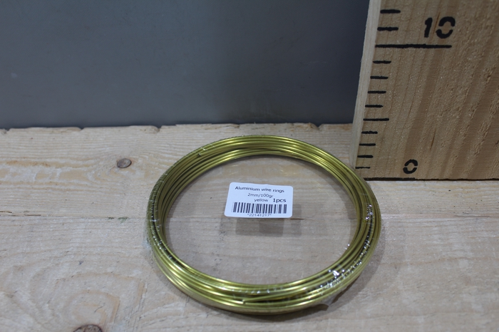 <h4>ALUMINUM WIRE 2MM 100G 12M YELLOW</h4>