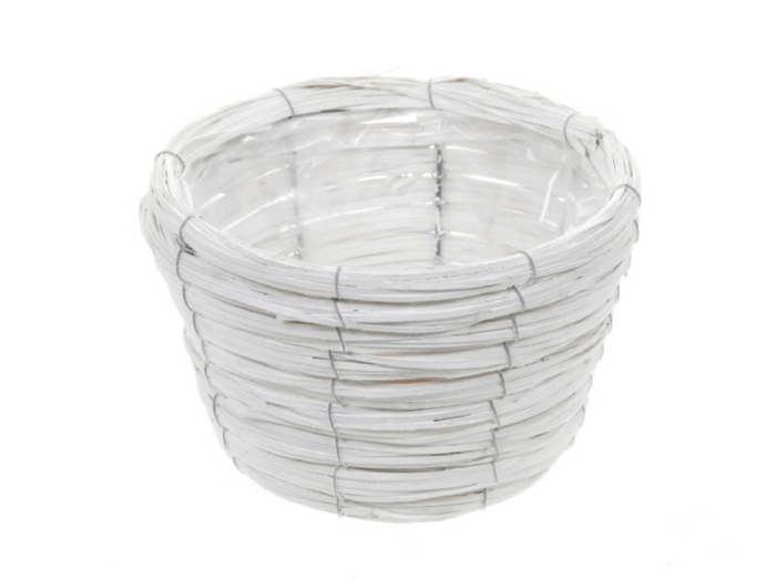 <h4>DF470602000 - Basket Paia d21xh14 white</h4>