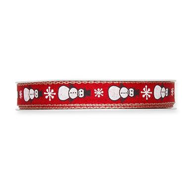 <h4>Kerst Lint Sneeuwman 15mm 20m</h4>