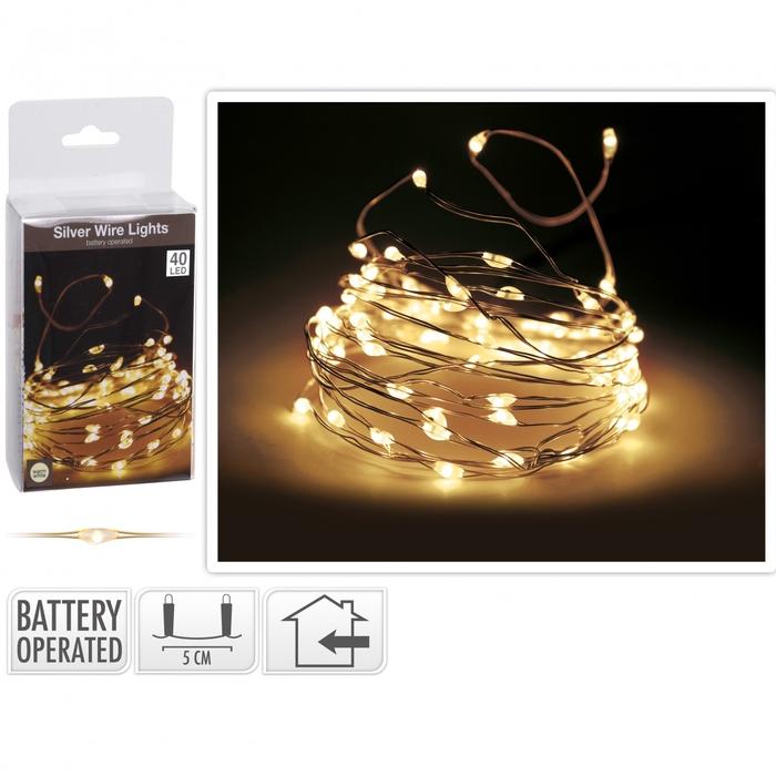 <h4>Christmas LED wire  40lmp (incl. batt)</h4>