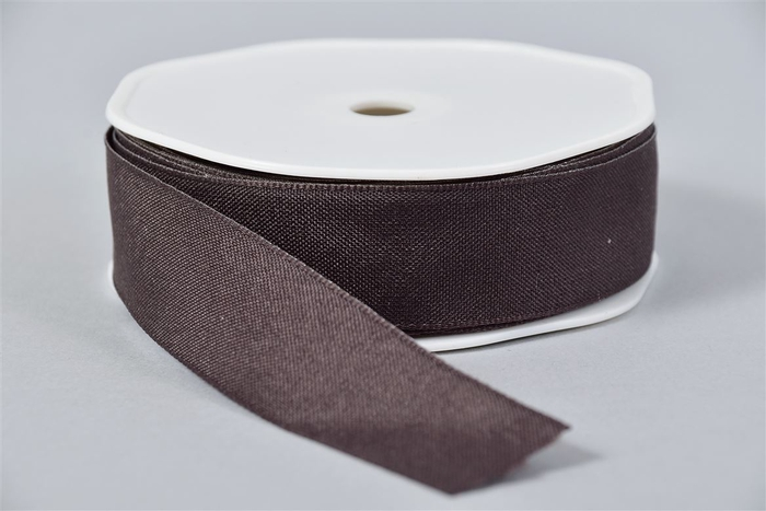 <h4>Lint Textiel 76 Donkerbruin 20mx25mm</h4>