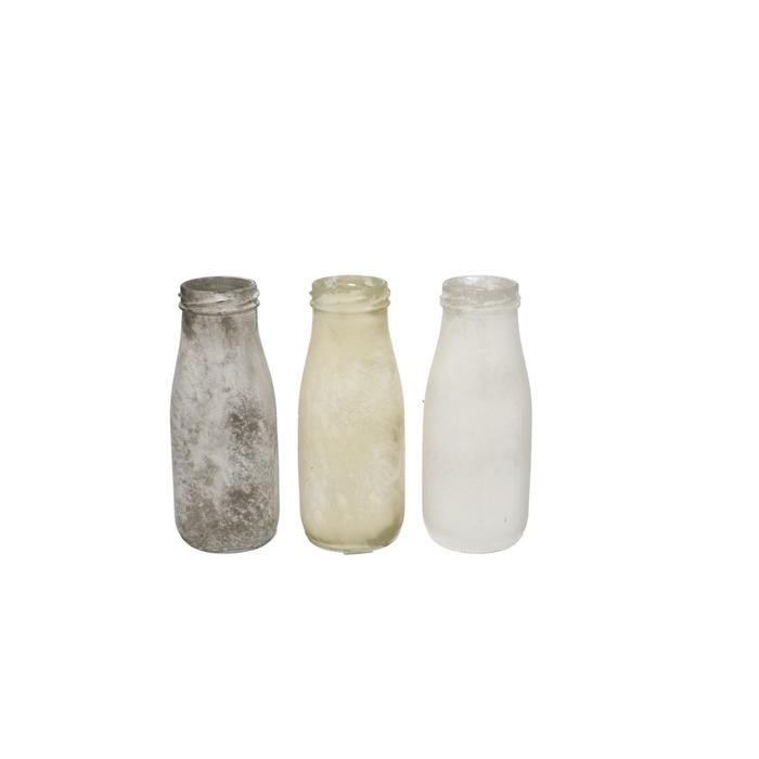 <h4>Glass Bottle d4.5/6*15.5cm 3ass</h4>
