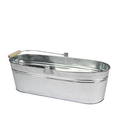 <h4>Pot de balcon en zinc 41,5x13,2xH13cm naturel</h4>