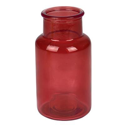 <h4>Vase Victoria verre Ø6,5xH13cm rouge transparent</h4>