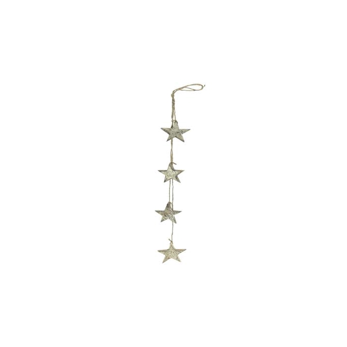 <h4>Garland Star Wood 60cm Plati.</h4>