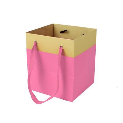 <h4>Bag Facile carton 9,5x9xH11cm pink</h4>