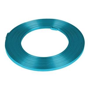 Aluminium wire flat - turquoise 5mmx10m
