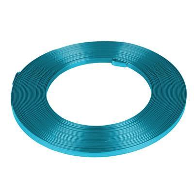 <h4>Aluminiumdraad plat -5 mmx10m turquoise</h4>