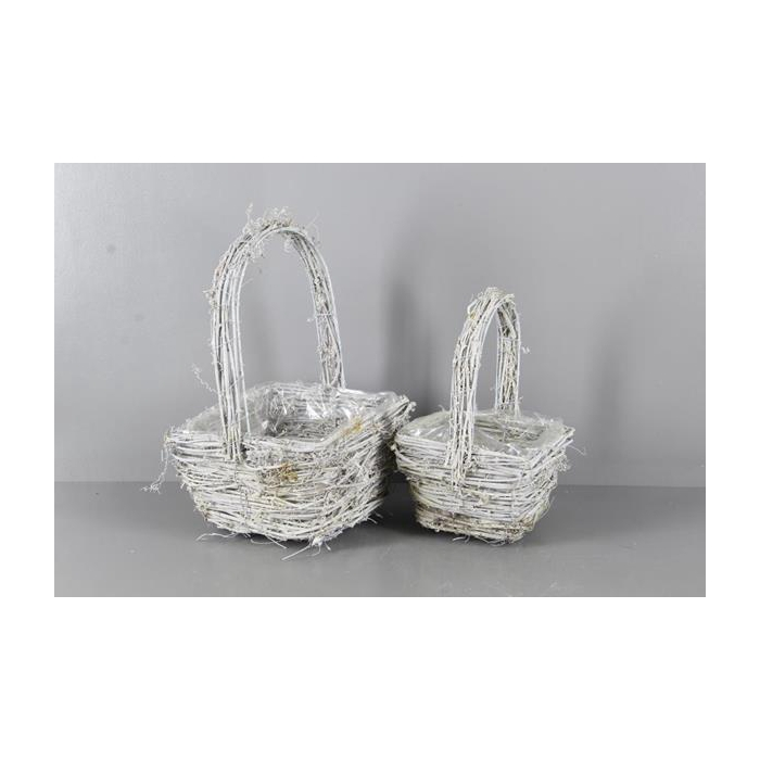 <h4>Basket Rattan Handle S/2 22x12</h4>