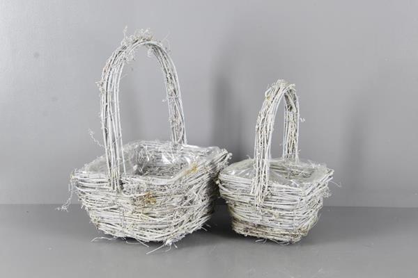 <h4>Basket Rattan Handle S/2 22x12</h4>