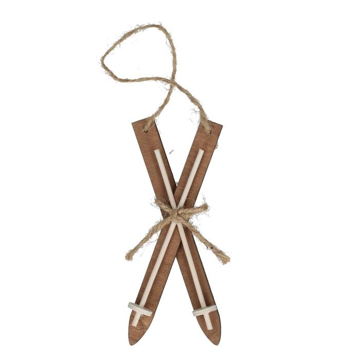 <h4>Kerst Hanger ski hout 15cm x4</h4>