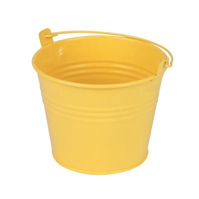 <h4>Bucket Sevilla zinc Ø11,7xH9cm - ES10,5 yellow mat</h4>