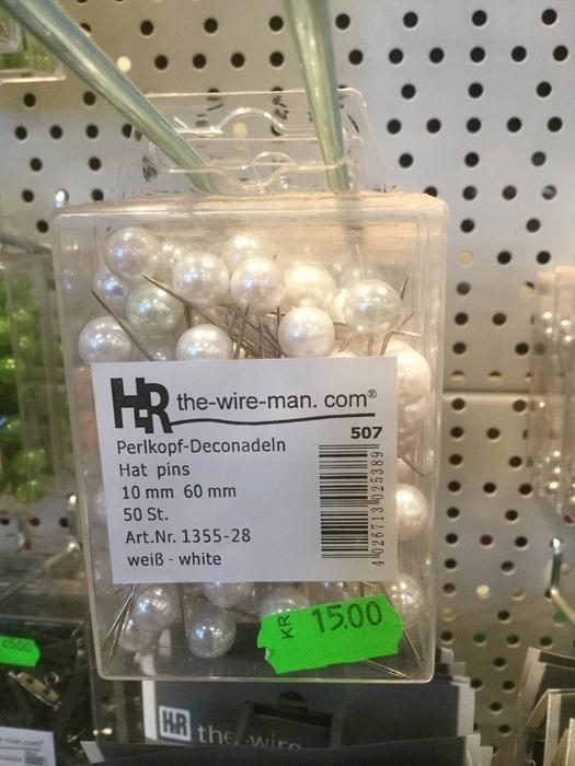 <h4>Dekonål med hvidt hoved, 10mm</h4>