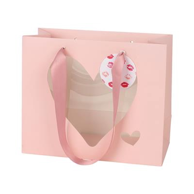 <h4>Bag heart + label carton 24x11x20cm pink</h4>