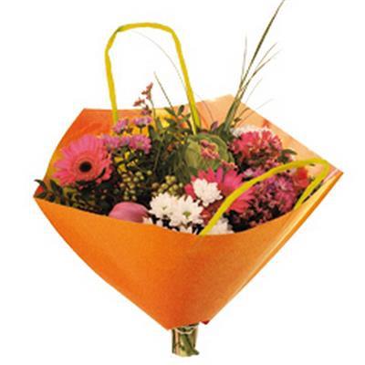 <h4>Bouquetbag Bro-lux 35x35cm paper orange</h4>