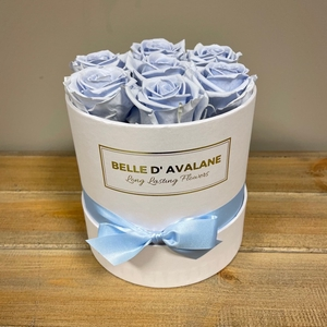 Box rd 15cm wit-lavendel