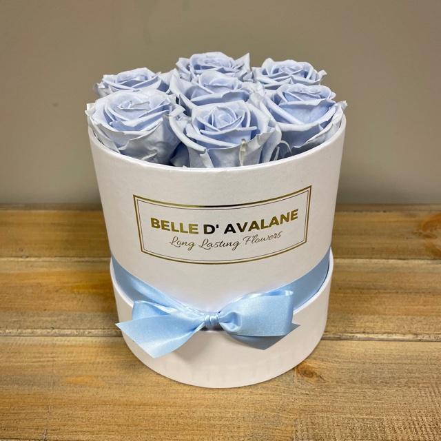 <h4>Box rd 15cm wit-lavendel</h4>