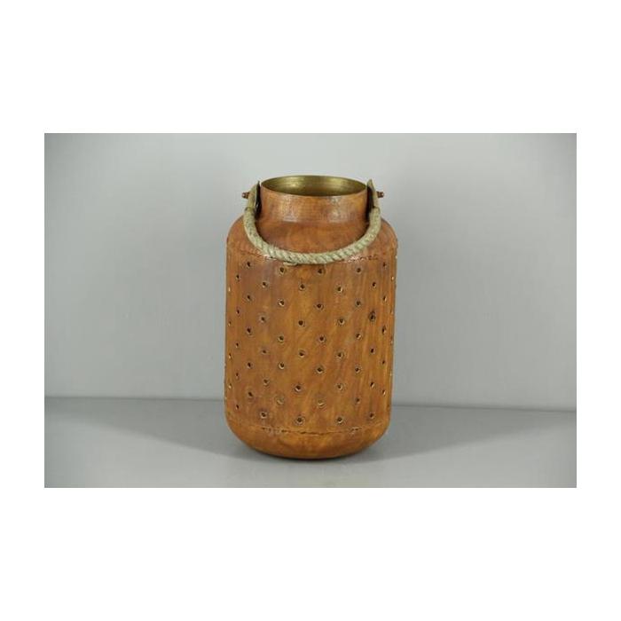<h4>Lantern Mtl Round Rust/gold 31</h4>