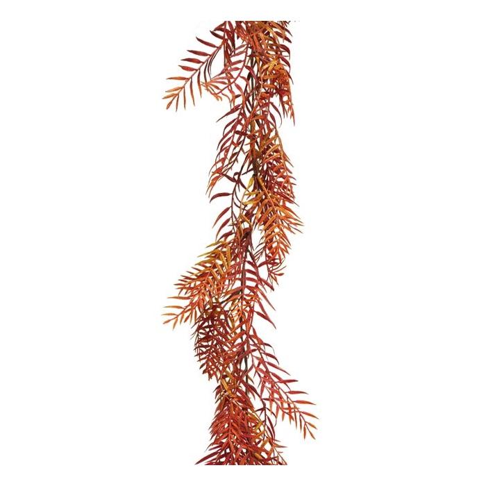 <h4>SILK FLOWERS - FERN GARLAND AUTUMN RED 180CM</h4>