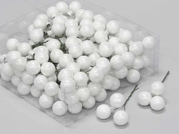 <h4>GLASSBAL ON WIRE WHITE OPAL D20MM 144PCS 101632</h4>