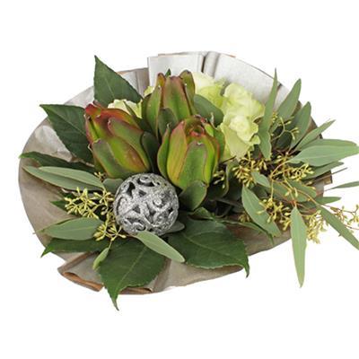 <h4>Bouquet cover kraft Ø36cm silver</h4>