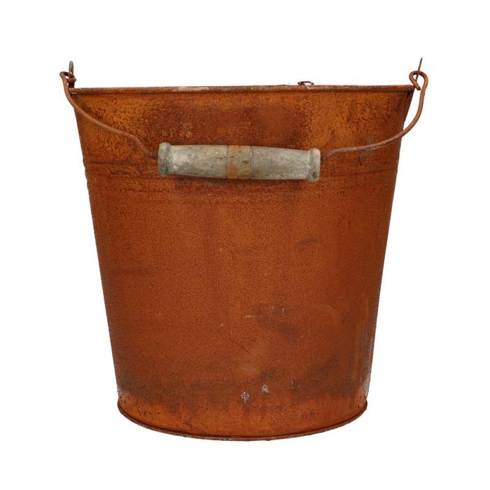 <h4>Zinc Bucket rust d20*19cm</h4>