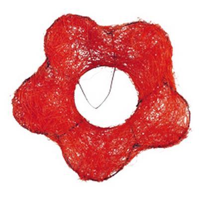 <h4>Bouquet holder sisal flower Ø15cm red</h4>