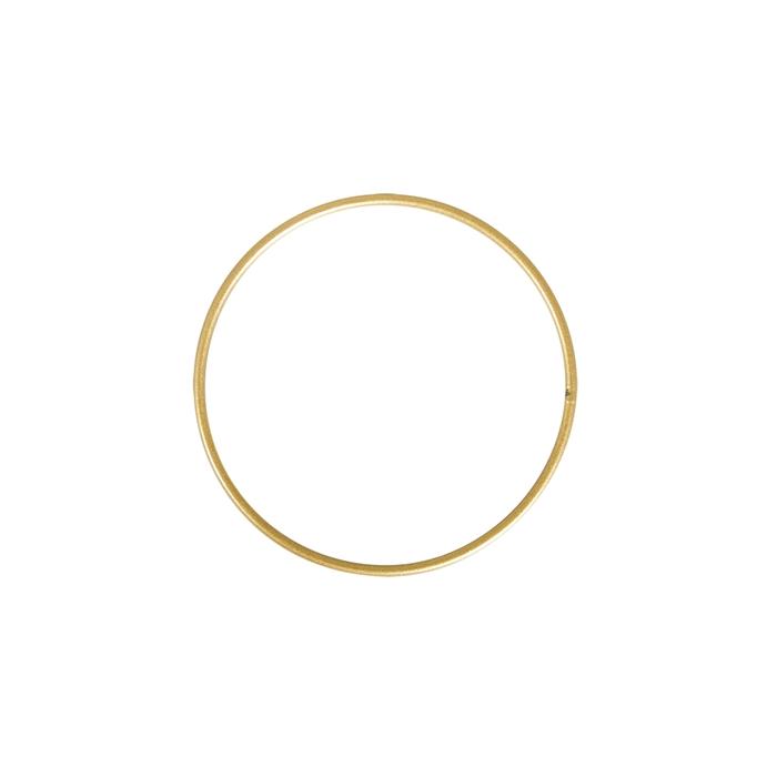 <h4>METAL RING ROUND SINGLE 025CM GOLD</h4>