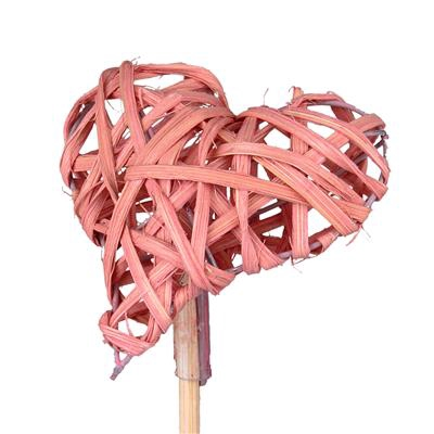 <h4>Pick heart woody 8cm+50cm stick pink</h4>