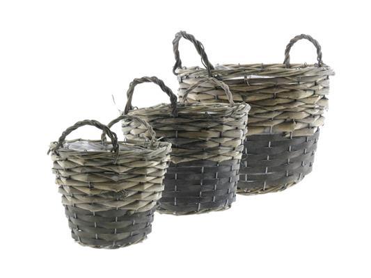 <h4>Basket Willow S/3  Ø25x19cm</h4>