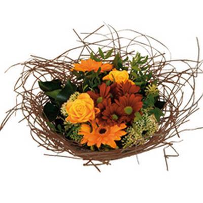 <h4>Bouquet holder woody Ø25cm brown</h4>