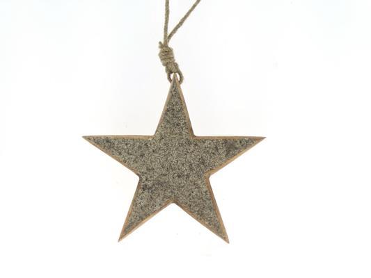 <h4>Star Wood Hang 20cm Platinum</h4>