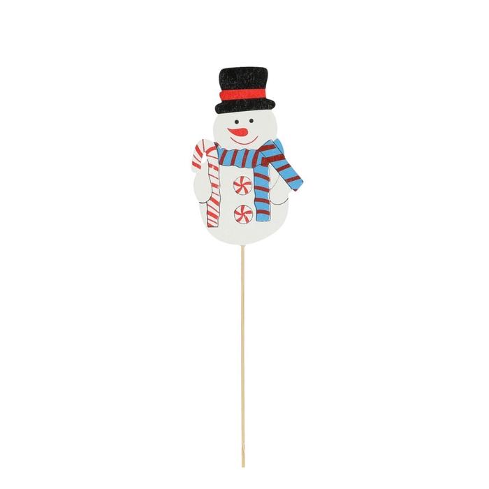 <h4>Christmas sticks 50cm Fun snowman 10cm</h4>