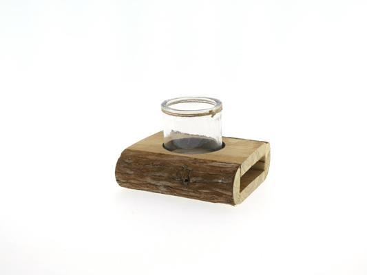 <h4>Wooden Holder+rnd Glass 16x15</h4>