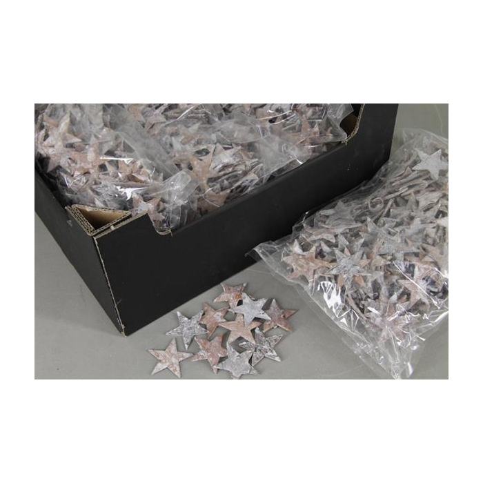 <h4>Birch Bark Star 5cm Bag(300)ww</h4>