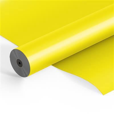 <h4>Flowerfilm roll OPP25mu 500mtrx60cm Frost yellow</h4>