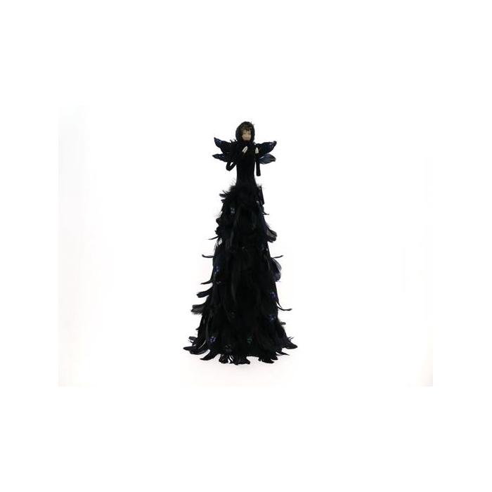 <h4>Fig. Black Feather Angel 68cm</h4>