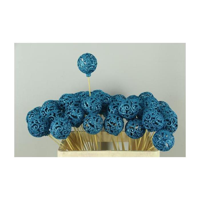 <h4>Stick Ball Baroque Ø6 Gl.blue</h4>