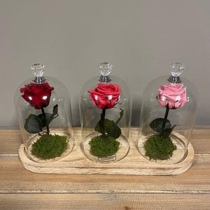 Stolp trio steel rood-fuchsia-roze
