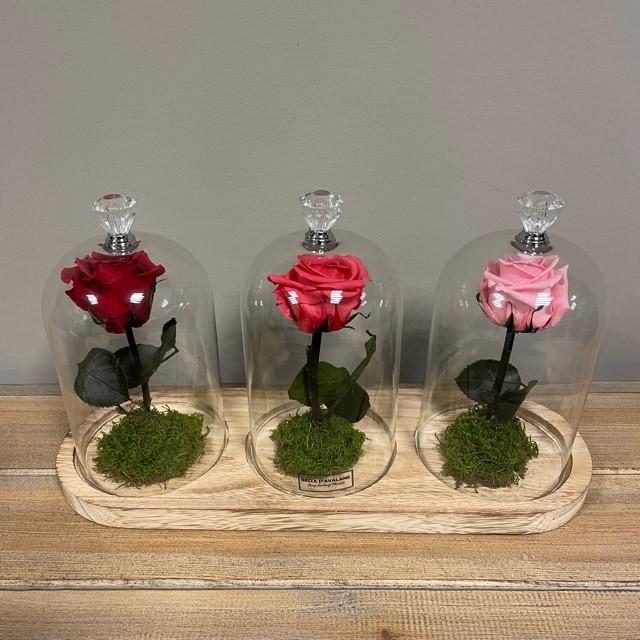 <h4>Stolp trio steel rood-fuchsia-roze</h4>