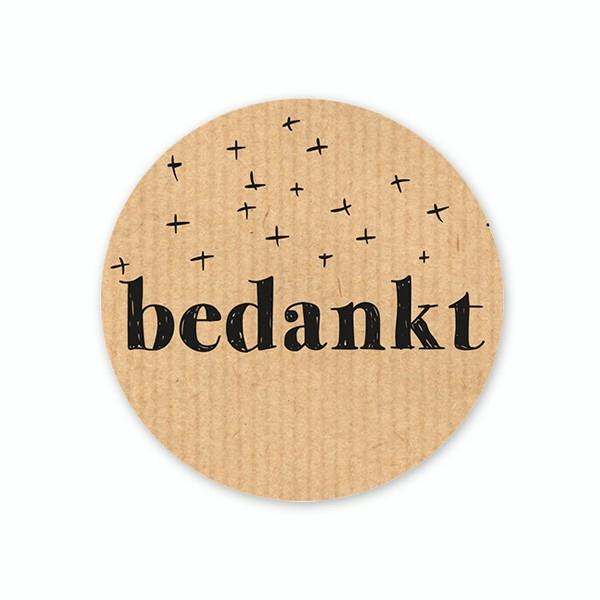 <h4>Labels Sticker 40mm x100 Bedankt</h4>