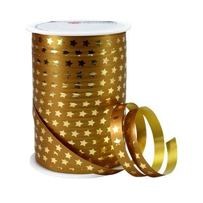 <h4>Krullint 10mm x100m ster goud  100% recy</h4>