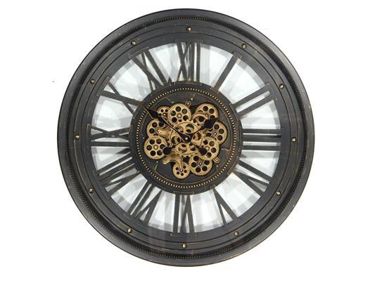 <h4>Clock Gear Ø60cm Black 81280</h4>