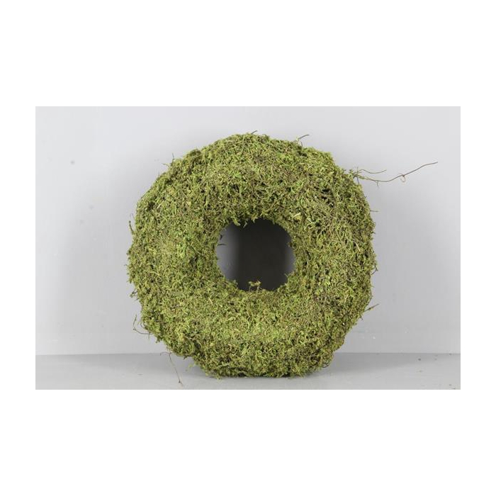 <h4>Wreath Moss(dried) Ø30x9cm Grn</h4>