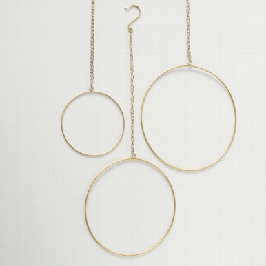 <h4>Decorative pendant Rumba, Round, With hanger, D 30,00 Quantity in set: 1; cm, Iron iron gold</h4>