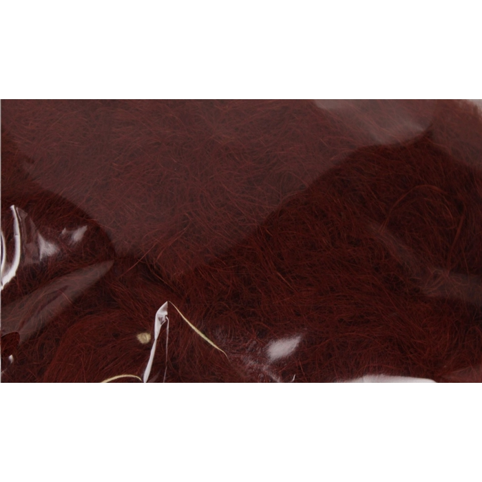<h4>Fuzzy fibre 100 gram in poly brown</h4>