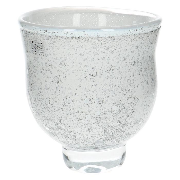 <h4>Glas Fidrio Old Opal vaas/voet d08*17cm</h4>