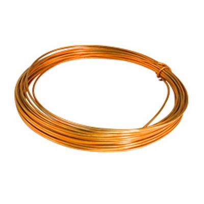 <h4>Gelakt aluminiumdraad - oranje 100 gram (12 meter)</h4>